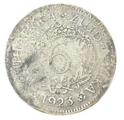 South Africa Six Pence 1923 George V Km16a Herns160/1 Silver 0.800 Coin Rare