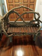 Wisteria Vine Chair Custom Made With Vines And Fencing /52 Wide/44high.andnbsp