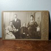 1880s Cabinet Card Photo Of Family From Bialystok, Poland By Rendel Antique