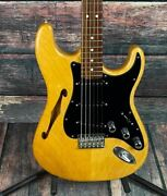 Used Warmoth Custom Built Semi-hollow Partscaster With Case