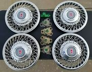 1992-95 Oldsmobile Delta 88 15 Set Of 4 Hubcaps Wire Wheel Covers 2553498 Oem