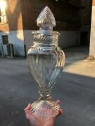 Vintage Extraordinary Minty C.1920 Multi-panelled 16 Tall Apothecary Candy Jar