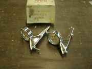 Nos Oem Ford 1960 Galaxie Fender Top Ornaments Guides Trim Fairlane Sights