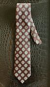 Brioni Tie - 100 Silk Patterned Neck Tie Handmade Made In Italy