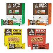 Munk Pack Keto Granola And Nut And Seed Bars 48 Pack 12 Pack Peanut Butter, 12 Pa