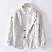 White Linen Menand039s Spring And Autumn Linen Casual Suit Jacket