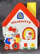 Hello Kitty Vintage Large Ceramic House Coin Bank 2000 Approx 9.5 Inch Tall
