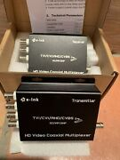 E-link 4ch Cctv Video Multiplexer Over 1 Coaxial Cable For Standard Analog New