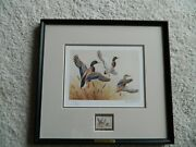 Ducks Unlimited - 1985 Signed Le Maynard Reece Duck Print And Du Stamp 4357/5300