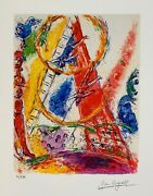 Marc Chagall Circus Iii Limited Edition Facsimile Signed Giclee Art 15 X 11