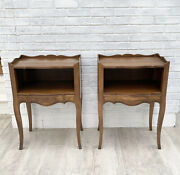 Vintage John Widdicomb Wood Open End Tables With Drawers - Set Of 2. Furniture