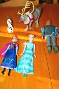 Disney Frozen Doll Includeselsa,anna,kristoff,sven And Olaf/used-sold As Is