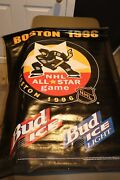 Boston 1996 96 Nhl All-star Game Vinyl Game Used Sign Bud Ice 39 X 30 Bruins