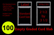 100 New Professional Unsealed Empty Graded Card Slabs Holder Grading Psa Style