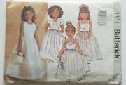 Butterick 3351 Flower Girl Dress And Jacket Sewing Pattern Uncut Toddler 2 - 5