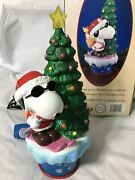 Mr Christmas Peanuts Snoopy Woodstock Twirling Table Piece Or Tree Top 1999