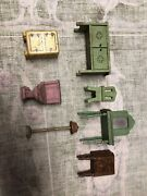 Antique Dollhouse Furniture Doll House Accessories Lot Of 7