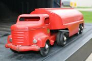 Minnitoys Red Tanker Delivery Transport Truck - Pressed Steel - Canada Repaint