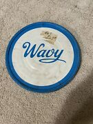 Vintage Potato Chip Can Lid Wavy Metal Lid For Wavy Potato Chips