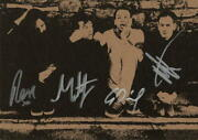 The 1975 Complete X4 Signed Autograph 6x8 Promo Photo Card - Matthew Healy +3