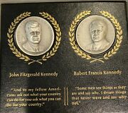 Jonh F Kennedy And Robert F Kennedy .999 Silver Memorial Medals