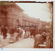 France Paris Exhibition Colonial 1931 Street Animated Photo Plate Stereo