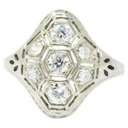 Old European Cut Solid 925 Sterling Silver Vintage Style Cz Ring Fine Jewelry