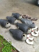 Lot Of Vintage Duck Decoy Bodies And Heads No Reserve