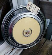 1970and039s Cadillac Eldorado Biarritz Wheel Cover Hubcap Yellow Excellent Shape
