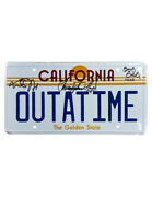 Back To The Future Number Plate Signed By Fox, Lloyd And Gale 100 Authentic + Coa