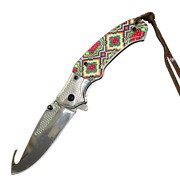 8 3cr13 Surgical Steel Gut Hook Blade Assisted Opening Folding Knife -