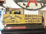 Old John Deere Farm Implements Tractor 38andrdquox10andrdquo Painted Wood Not Metal Sign