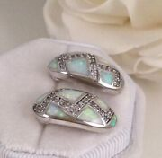 Vintage Jewellery Gold Opal Earrings Antique Deco Jewelry Ear Rings With Opals