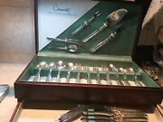 Oneida Community South Seas Silver Plate Silverware 56pieces /chest 8 Place Set+