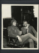Robert Young In Devil Costume + Director Henry King - On Set Between Takes 1934
