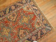 Antique Heriz Rug 3and0394and039and039x4and0395and039and039
