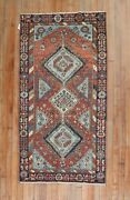 Antique Heriz Rug 2and03910and039and039x5and0395and039and039and039