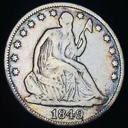 1849 O Seated Liberty Half Dollar 50c Ungraded Good Date Silver Us Coin Cc7005