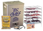 New Smokehouse Big Chief 9890 Top Load Electric 5 Grill Bbq Meat Smoker Cooker