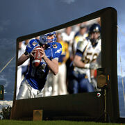 Elite Outdoors Backyard 20 Feet Inflatable Movie Screen Front And Rear Projection