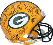 1997 Super Bowl Xxxi Champion Green Bay Packers Team Signed Authentic Helmet