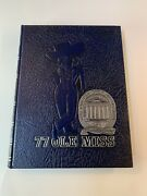 University Of Mississippi Ole Miss Annual Yearbook 1977