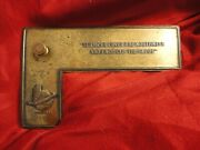 Antique Northwestern Bank Portland Or. Advertising Paperweight Drawing Square