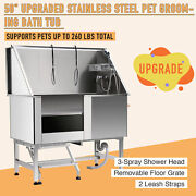 50 Pet Dog Grooming Bath Tub Cat Wash Shower Kit Stainless Steel Professional