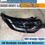 2020 2021 Land Rover Discovery5 Led Headlight Assembly Non Orange Light One Set