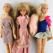 Hasbro Maxie Dolls Jem Lot Of 3 Vintage 1987 And 1985 Blonde Hair
