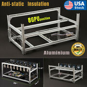 Usa Mining Rig Frame Equipment Aluminum Stackable For 8gpu Bitcoin Ethereum