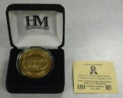 The Highland Mint Ny Jets Gold Overlay Nfl Game Coin Medallion /1000 Je144