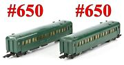 American Flyer Pw 650 650 New Haven Green 2-cars Link Couplers 1947-52