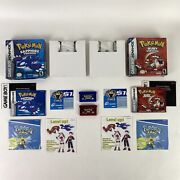 Pokemon Sapphire And Ruby Version Nintendo Gameboy Advance, Gba Complete In Box